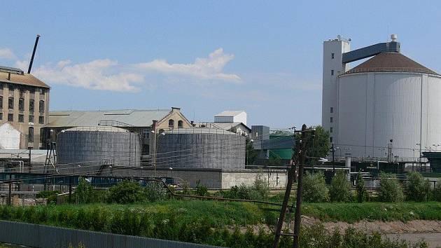 Archivní foto cukrovaru v Němčicích nad Hanou