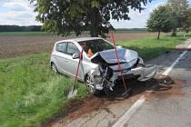 Nehoda mezi Prostějovem a Kostelcem na Hané