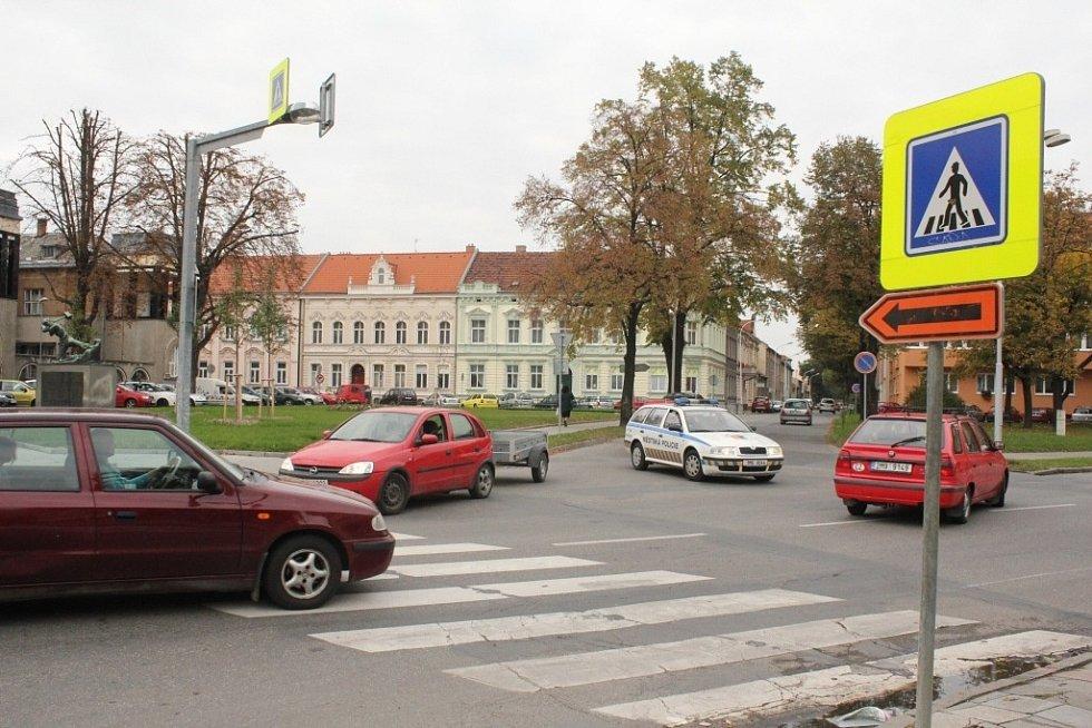 Uzavírka Olomoucké ulice - na trase objížďky