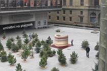 VIZUALIZACE: Voskové srdce ze svíček, které hořely za Václava Havla