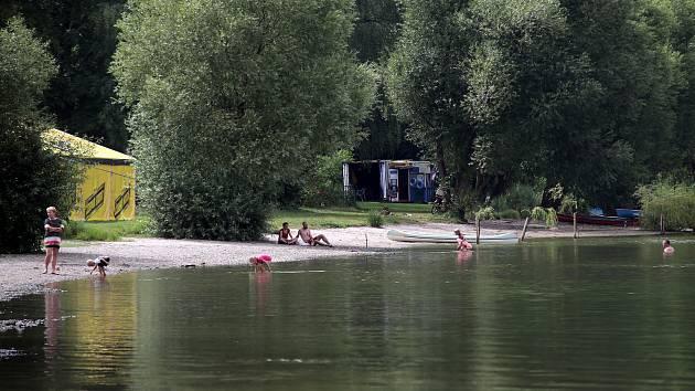 Plumlovská přehrada 10. srpna 2017