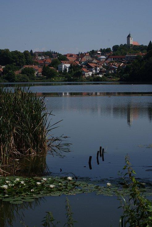 Podhradský rybník v Plumlově 26. 7. 2019