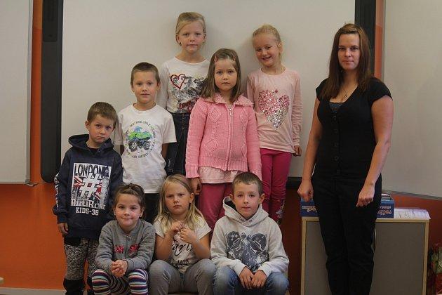 Žáci 1.třídy ze ZŠ Vřesovice spaní učitelkou Petrou Ludvovou