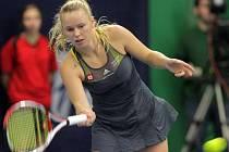 Extraligové finále Prostějov vs. Přerov: Caroline Wozniacká (TK Agrofert Prostějov)