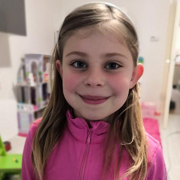Julča Vinklárková, 7let, Prostějov