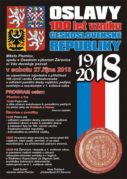 Oslavy 100let vzniku republiky vPlumlově