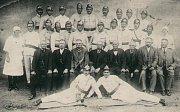 Hasiči z Tištína - historické foto