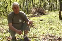 Ochránce přírody Karel Pokorský na Hloučele