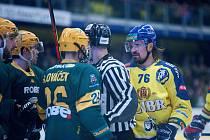 Poslední utkání základní části Chance ligy 2019/2020 mezi Přerovem (ve žlutém) a Vsetínem.