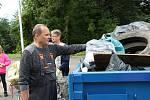 V sobotu se dobrovolníci pustili do úklidu prostějovského biokoridoru Hloučela.