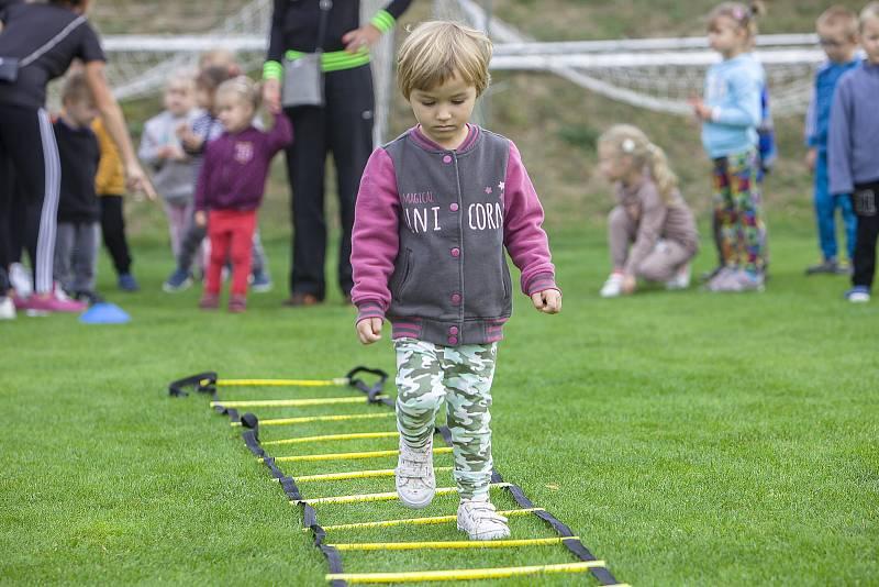 Bohuslavické sportovní dopoledne bavilo na stovku dětí z mateřských škol. 27.9. 2021
