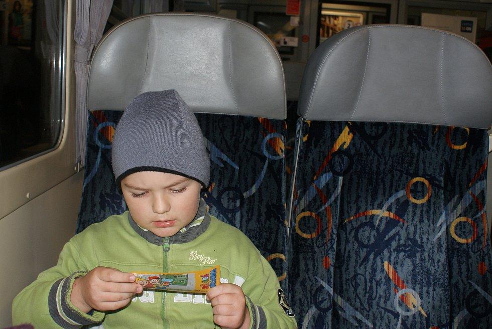Cestování vlakem Regionova na trati Dzbel - Prostějov