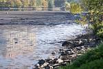 Vypouštění Podhradského rybníka v Plumlově