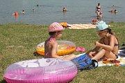 Plumlovská přehrada. Pláž U Vrbiček