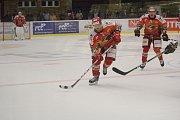 2. kolo WSM Ligy, LHK Jestřábi Prostějov - HC Stadion Litoměřice 1:4 (1:0, 0:1, 0:3). Jan Rudovský (Prostějov)