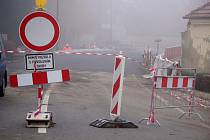 Oprava mostu a silnice v Mostkovicích.