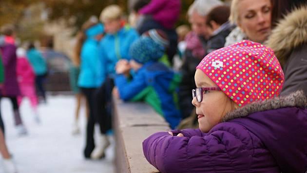 Otevření kluziště na prostějovském náměstí TGM