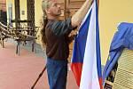 Příprava na návštěvu prezidenta ČR Václava Klause v Čechách pod Kosířem
