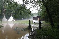 Bouřka 1. července 2019 na Konicku - tábor v Bohulsavicích