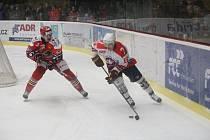 Prostějov (v červeném) porazil Třebíč 9:0