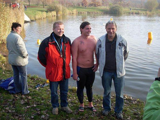 Luděk Coufal (vlevo) po boku Davida Čecha, který průliv La Manche přeplaval už dvakrát. Jednou dokonce tam i zpátky.