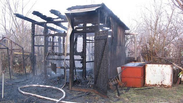 Požár chatky