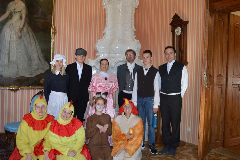 Velikonoční prohlídky na zámku v Čechách pod Kosířem