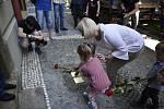 V Prostějově bylo uloženo dalších 13 Kamenů zmizelých. 25.6. 2020