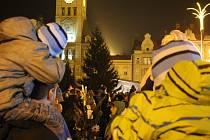 Rozsvícení vánočního stromu v Prostějově