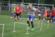 Děti na fotbalovém tréninku 1. SK Prostějov