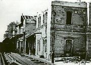 Na konci války v květnu 1945 byla výpravní budova téměř zničena výbuchem muničního vozu.