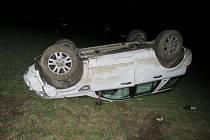 U Smržic havarovala řidička s Land Roverem. Vyvázla bez zranění.
