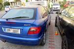 Havárie opilého řidiče citroenu v Tylově ulici v Prostějově