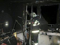 Požár bytu v Tylově ulici v Prostějově