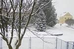 Zasněžené okolí Horního Štěpánova 28. ledna 2019