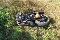 Nehoda motocyklu u Vrbátek