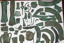 Nalezené bronzové předměty