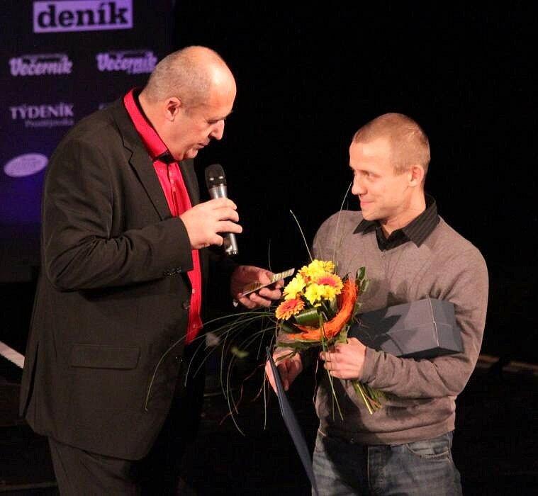 Předávání cen Sportovec Olomouckého kraje 2012: vpravo Tomáš Kajnar