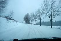 Cesta z Horního Štěpánova do Konice - ráno 4. dubna 2013
