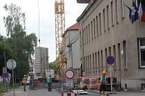 Stavební práce s uzavírkou v Šafaříkově ulici v Prostějově