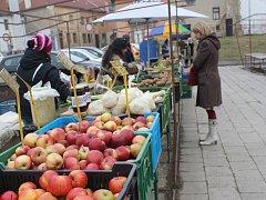 V zimě na prostějovské tržnici v centru města