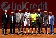 Slavnostní ceremoniál s vítězem Czech Open v Prostějově