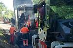 Asfaltování nové cyklostezky na plumlovské přehradě - 1. 6. 2020