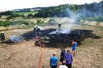 Požár dřevěné vyhlídkové chaty v Seloutkách