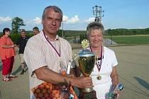 Druhé místo na mistrovství republiky v petanque je podle Jany a Miroslava Krpcových zatím největší úspěch