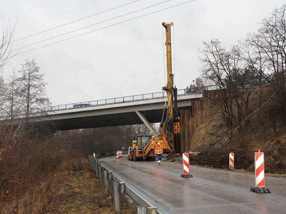Stavba připojovacích pruhů v Brodku u Prostějova