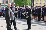Den se složkami Integrovaného záchranného systému na prostějovském náměstí TGM