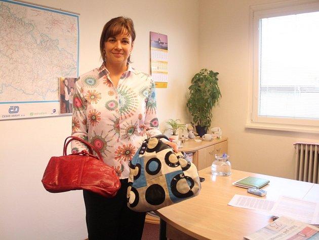 Kateřina Šubová se svými kabelkami