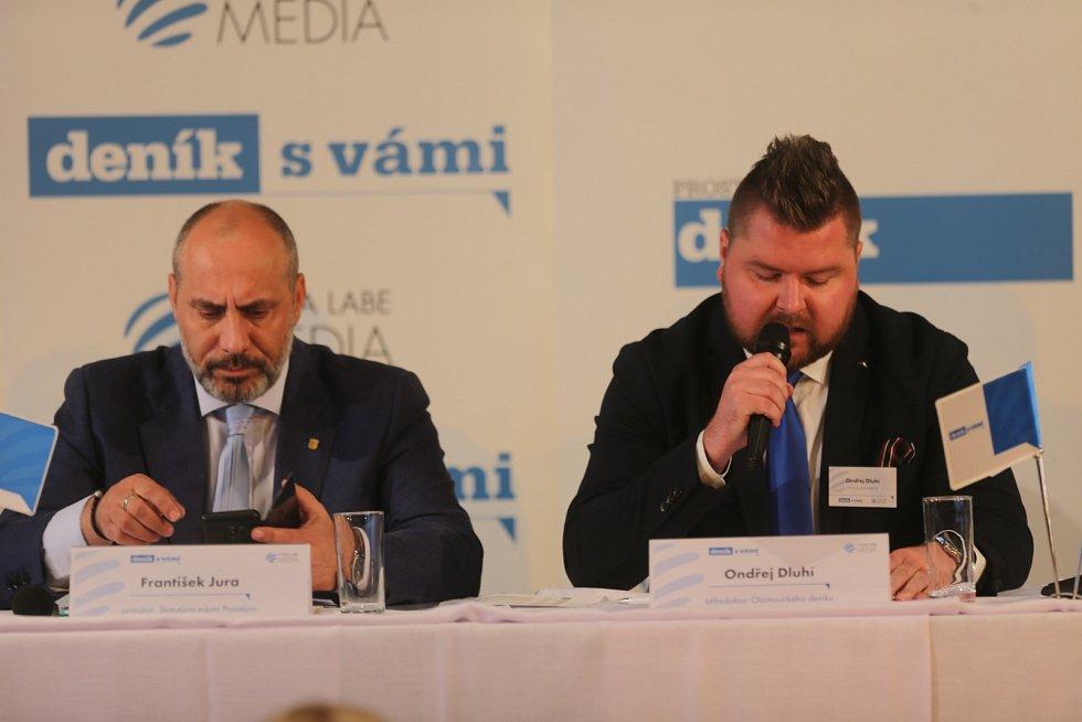 Debata Deníku s prostějovským primátorem - František Jura a Ondřej Dluhí