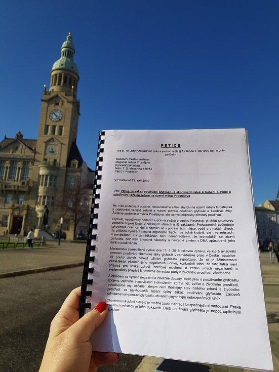 Petice proti používání glyfosátu v Prostějově
